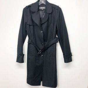 Kenneth Cole Reaction Black Trench Rain Coat